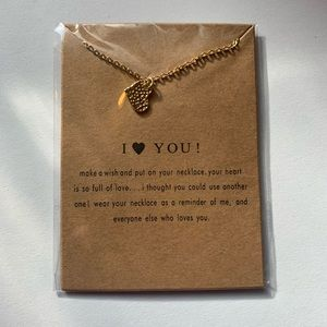 I Love ❤️ You Necklace Gold Chain Small Pendant